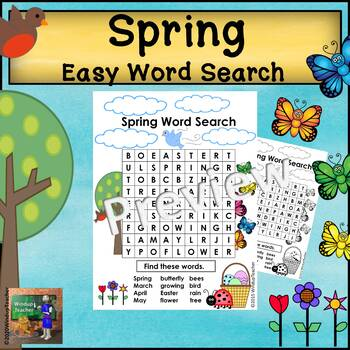 Spring Word Search  * Easy