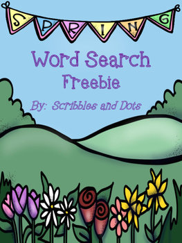 Spring Word Search Freebie