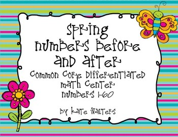Spring Write Numbers Before and After {Differentiated & Al