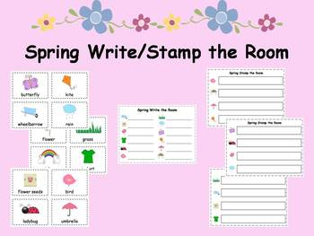 Spring Write and Stamp the Room Activities