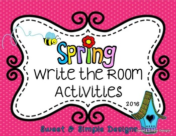 Spring Write the Room Literacy and Math Activities