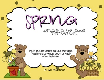 Spring Write the Room Sentences
