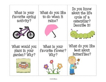 Spring Writing Prompts for Centers or Writing Instruction