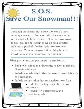 Spring Writing Prompt Common Core Narrative
