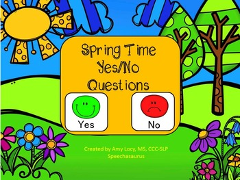 Spring Yes/No Questions FREEBIE