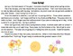 Spring and Easter Comprehension and Inference Stories