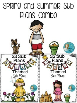 Spring and Summer  Sub Plans K-2  Combo Pack
