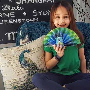 Spring craft for kids fantail peacock and FREE photosynthe