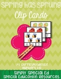 Spring has Sprung! 1:1 Correspondence Clip Cards