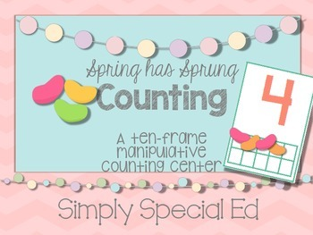 Spring has Sprung! A Ten Frame Manipulative Counting Center