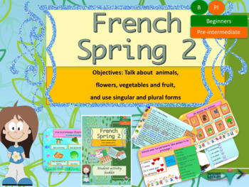 Spring in French bundle (animals, flowers, plural) for beg