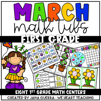 Spring into Action! 8 FIRST GRADE Spring Math Tubs