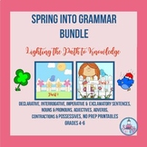 Spring into Grammar No-Prep Printables for Grades 4-6