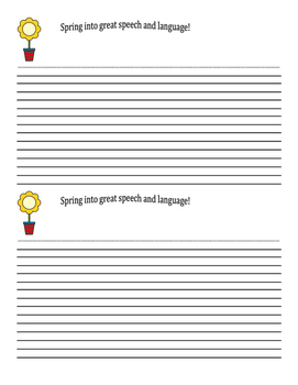 Spring into great speech and language!
