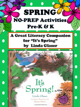Spring is Here Literacy Companion for Language NO PREP