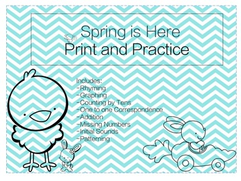 Spring is Here Print and Practice Morning Work
