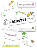 Spring or March Themed Name Tags and Desk Name Plates