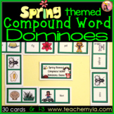 Spring themed Compound Word Dominoes