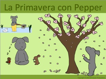 Spring with Pepper in Spanish