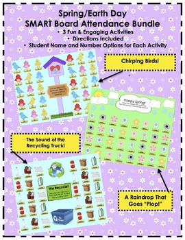 Spring/Earth Day SMART Board Attendance Activity *Bundle*