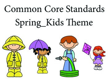 SpringKidskida 2nd grade English Common core standards posters