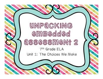 Springboard - 7th Grade ELA - Activity 1.11 (Unpacking Emb