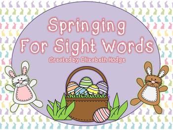 Springing For Sight Words- Scott Foresman Kindergarten and