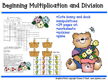 Springtime Beginning Multiplication and Division