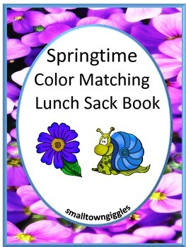Springtime Color Matching Lunch Sack Book P-K, P, Autism,
