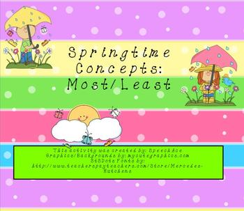 Springtime Concepts: Most/Least