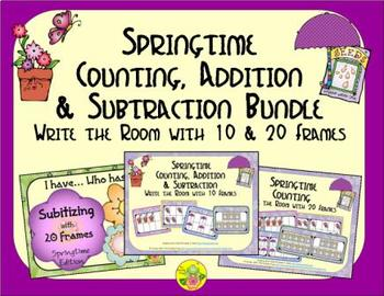 Springtime Count, Add & Subtract Bundle with 10 & 20 Frame