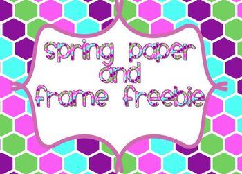 Springtime Digital Paper Pack and Spring Swirly Frame Freebie