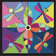 Springtime DragonflyMosaic - Interactive Coloring Sheets -