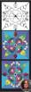 Springtime Honeybee Mosaic - Interactive Coloring Sheets -