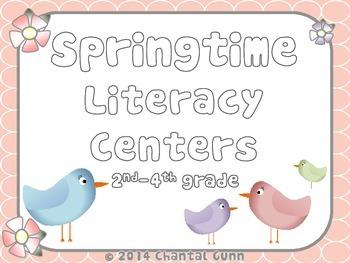 Springtime Literacy Centers {2nd-4th grade}