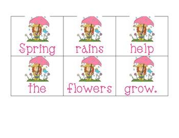 Springtime Literacy Centers