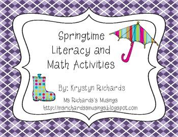 Springtime Literacy and Math Center Bundle
