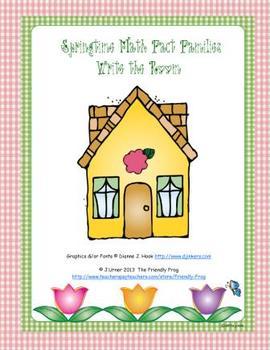 Springtime Math Fact Families: Write the Room