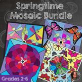 Springtime Mosaic Bundle - Coloring Sheets Butterfly, Drag