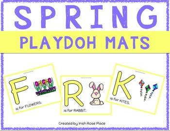 Spring Playdoh Mats