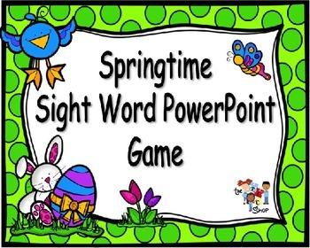 Springtime PowerPoint Game {Editable Template}