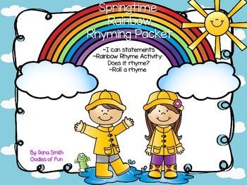 Springtime Rainbow Rhyme Packet