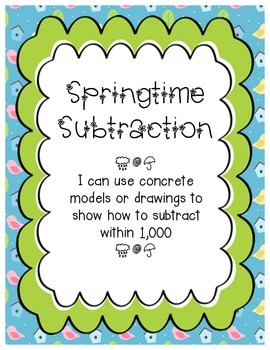 Springtime Subtraction- Subtraction Within 100