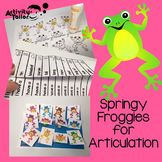Springy Froggies for Articulation, Fluency/Voice