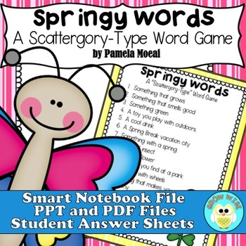 Springy Words:  A Scattergory-Type Word Game!