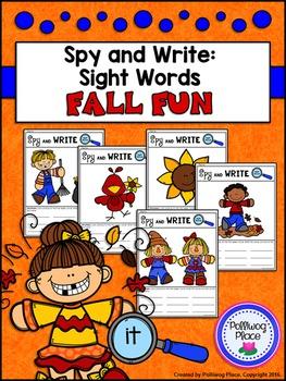 Spy and Write Sight Words - Fall Fun