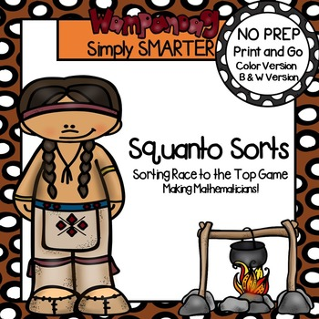 Squanto Sorts:  NO PREP Sorting Race to the Top Game