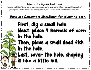 Squanto, the Pilgrim's Best Friend- how-to writing