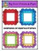 Square Big Swirl Frames {P4 Clips Trioriginals Digital Clip Art)