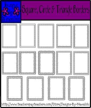 Borders: Squares, Circles & Triangles
